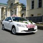 заказать авто на свадьбу - белая тойота камри 2012 новая