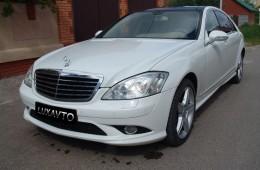 Mercedes S-class w221 белый